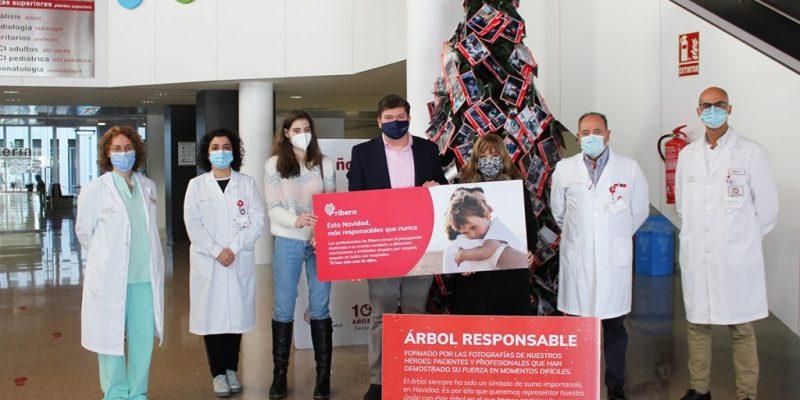 El Hospital Universitario del Vinalopó dona 6.000 kilos de productos de primera necesidad a la Asociación Conciénciate