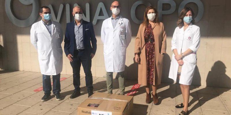 El Hospital Universitario del Vinalopó recibe 1.000 mascarillas FFP2 del Colegio Oficial de Médicos de Alicante